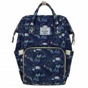 Сумка-рюкзак для мам Barrley Prince Зима Единорог (Синий)
