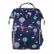 Сумка-рюкзак для мам Barrley Prince Воздушные шары Единорог (Синий)