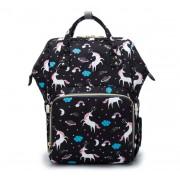 Сумка-рюкзак для мам Barrley Prince Единорог Пони (Черный)