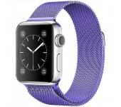 Ремешок Milanese Loop для Apple Watch 38 40 мм ремешок на магнитной застежке, гибкий, нервущийся(Фиолетовый)