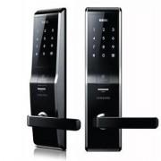 Врезной биометрический электронный замок Samsung H705, 5230 FBK, EN (черный)