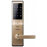 Врезной биометрический электронный замок Samsung H705, 5230 FBG, EN (золотистый)