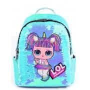 Рюкзак с блестками пайетками Lol (Голубой)