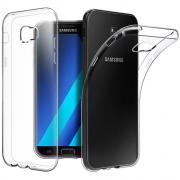 Чехол силиконовый мягкий для Samsung Galaxy A7 plus (Прозрачный)