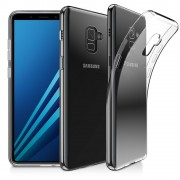 Чехол силиконовый мягкий для Samsung Galaxy А8 2018 (Прозрачный)
