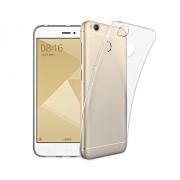 Чехол силиконовый мягкий для Xiaomi Redmi 4X (Прозрачный)
