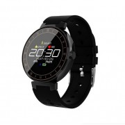 L8 Фитнес часы смарт браслет с контролем сердечного ритма и давления (Черный)
