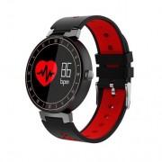 L8 Фитнес часы (смарт браслет) с контролем сердечного ритма и давления (Красный)