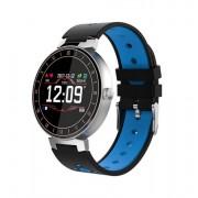 L8 Фитнес часы (смарт браслет) с контролем сердечного ритма и давления (Синий)