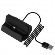 Док-станция зарядное устройство универсальное для смартфонов с Lightning (Черная)