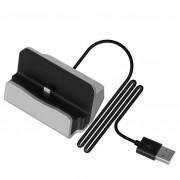 Док-станция зарядное устройство универсальное для смартфонов с Lightning (Серебристая)