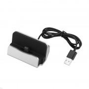 Док-станция зарядное устройство универсальное для смартфонов с Type-C (Серебристая)