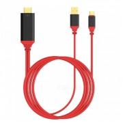 Кабель Type C to UHD Cable USB3.1 2м (Красный)