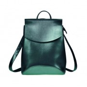 Рюкзак French натуральная кожа (Изумрудный металлик)