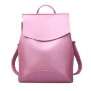Рюкзак French натуральная кожа (Розовый)