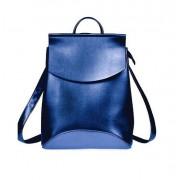Рюкзак French натуральная кожа (Синий металлик)