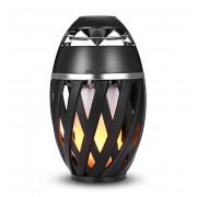 Портативная колонка светильник Flame Light Lamp Bluetooth Speaker Atmosphere с эффектом пламени