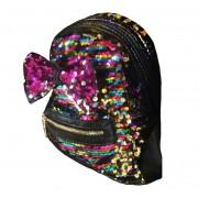 Рюкзак с блестками пайетками бант (Цветной)