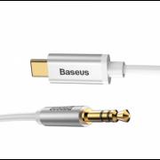 Аудио кабель Baseus на наушники 3.5мм на Type-C CAM01-02 (Белый)