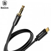 Аудио кабель Baseus на наушники 3.5мм на Type-C CAM01-01 (Черный)