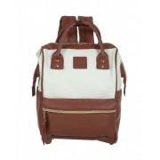 Городской рюкзак с ручками Anello (Бело-бордовый)