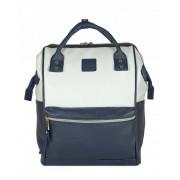 Городской рюкзак с ручками Anello (Бело-зеленый)