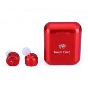 Наушники TWS X3T bluetooth Touch Twice с сенсорным управлением (Красный)