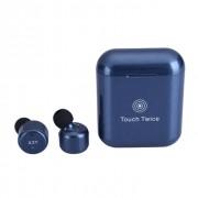 Наушники TWS X3T bluetooth Touch Twice с сенсорным управлением (Темно-синий)