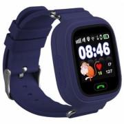 Умные детские часы с телефоном и GPS трекером Smart Baby Watch Q90 (Темно-синие)