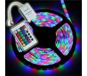 Светодиодная лента LED SMD 3528 5m с блоком питания (Цветная)
