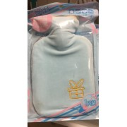 Бутылка-грелка плюш с вышивкой подарок (Голубой)
