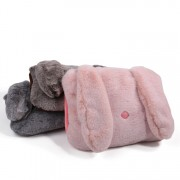 Бутылка-грелка пушистая кролика 0,75 литра (Розовый)