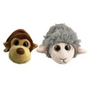 Мягкая игрушка-вывернушка 25х7х8 см 2в1 обезьяна-баран