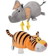 Мягкая игрушка-вывернушка 25х7х8 см 2в1 тигр-слон