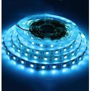 Светодиодная led лента 5 метров размер 5050 ip20 (Синий)