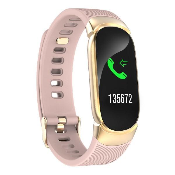 Водонепроницаемые часы QW16 (Розовый)