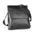 Сумка кожаная размер L мужская для iPad или документов Polo (Черный)
