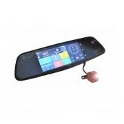 Видеорегистратор зеркало с 2-мя камерами на базе Android с GPS и Wi-Fi Eplutus D30 (Черный)