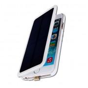 Чехол для Iphone 6 plus с аккумулятором и солнечной батареей 4200 mAh Power Bank Solar battery case (Белый)