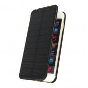 Чехол для Iphone 6 plus с аккумулятором и солнечной батареей 4200 mAh Power Bank Solar battery case (Черный)