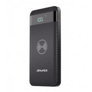 Внешний аккумулятор с беспроводной зарядкой Awei P55K Qi Wireless Charger Power Bank 10000 mAh (Черный)