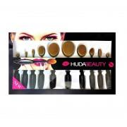 Набор кистей щеток для макияжа Huda Beauty, 10 штук