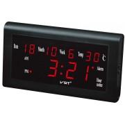 Часы светодиодные VST-795W синие циифры (Черный)