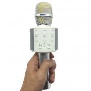 Беспроводной Bluetooth And Hifi микрофон караоке Ws 858-1 (Серебристый)