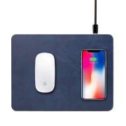 Коврик для мыши с беспроводной зарядкой QI Cover Wireless Charging Mouse Pad (Синий)