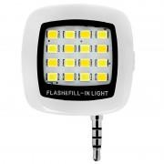 Внешняя универсальная LED-вспышка для смартфона (Белый)