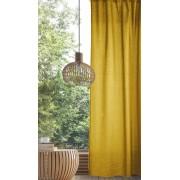Комплект штор коллекции волшебная ночь рогожка 165х270 см (Горчица)