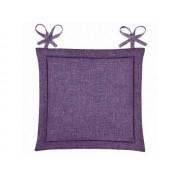Подушка для стула Home&Style рогожка 40х40 см (Фиалка)