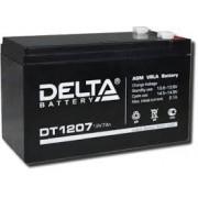 Аккумулятор для охранно-пожарных систем Delta DT 1207 12V (Черный)