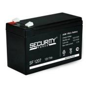 Аккумулятор для охранно-пожарных систем Security Force SF 1207 12V (Черный)